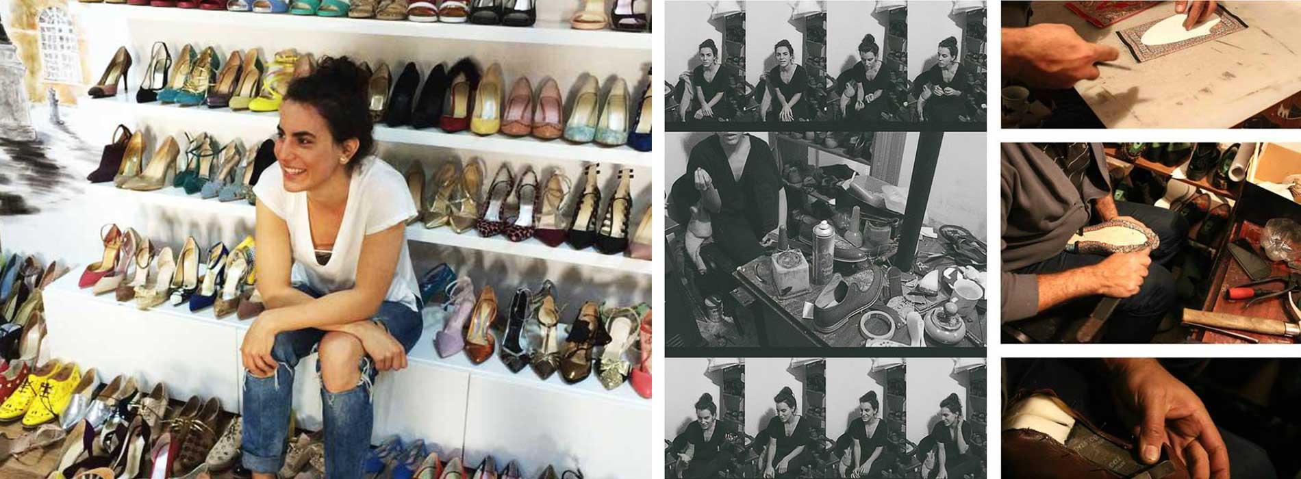 Bianca Georgescu.  Obiect de cult. Inserţii persane. Design de pantofi.